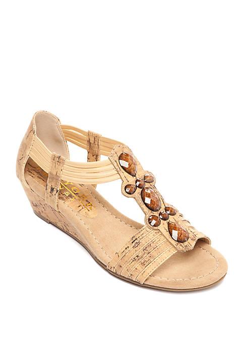 Tempted Embellished Wedge Sandals
