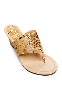 New York Transit Festival For All Donut Wedge Thong Sandals