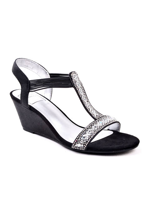 New York Transit Badgetastic Mid-Wedge Sandals