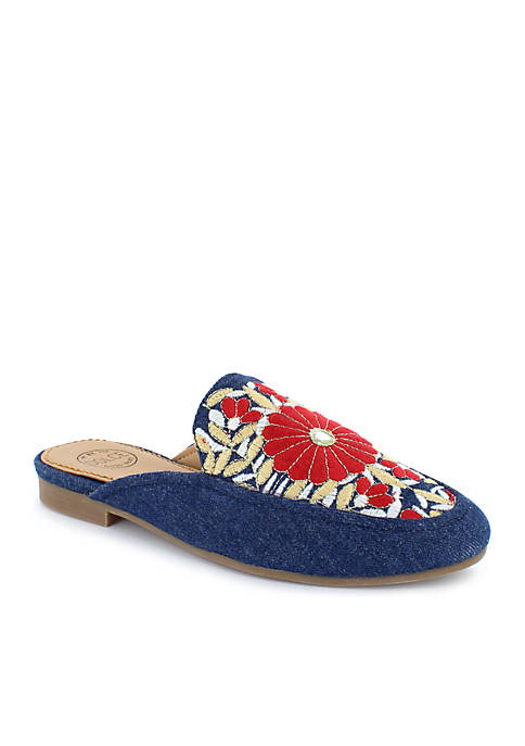 DOLCE by mojo moxy Hanna Embroidered Mule