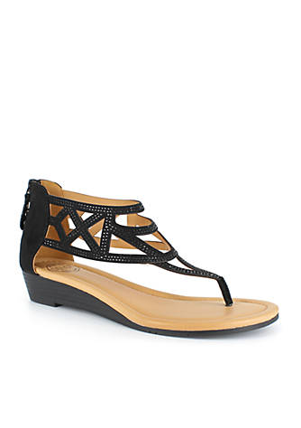 DOLCE by mojo moxy Finale Embroidered Wedge Sandal