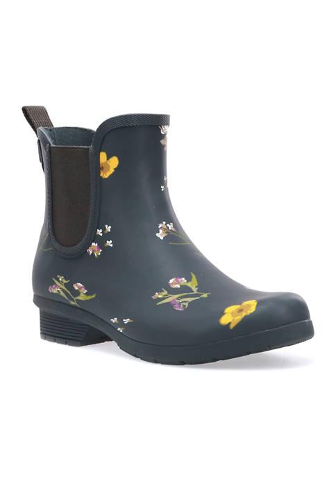 CHOOKA Flower Press Chelsea Ankle Rain Boots