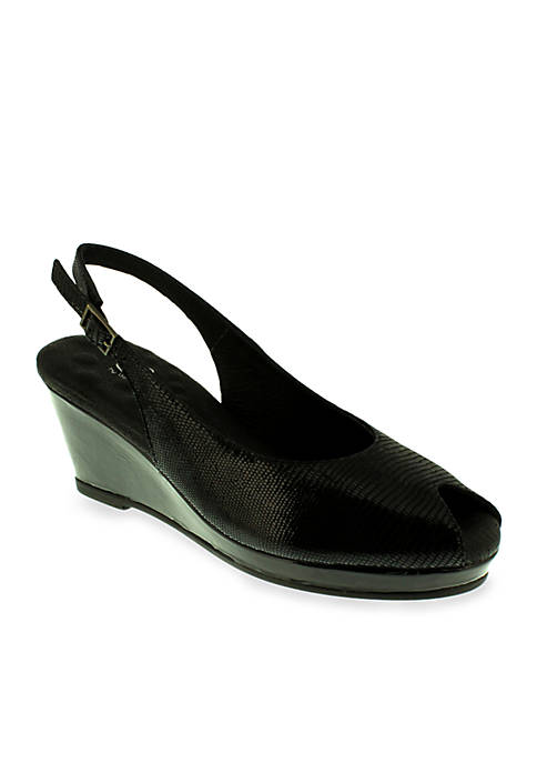 Natasha Peep-Toe Slingback Lizard - Available in Extended Sizes - Online Only