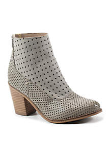 Lotus Flower Perforated Stacked Booties