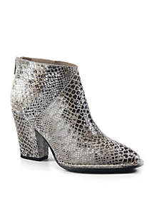 Pay Phone Snake Print Bootie