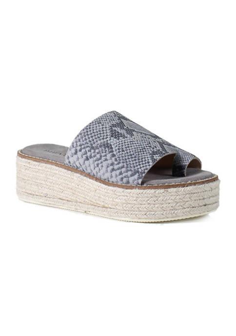 Diba True® Dress On Toe Loop Flatform Sandals