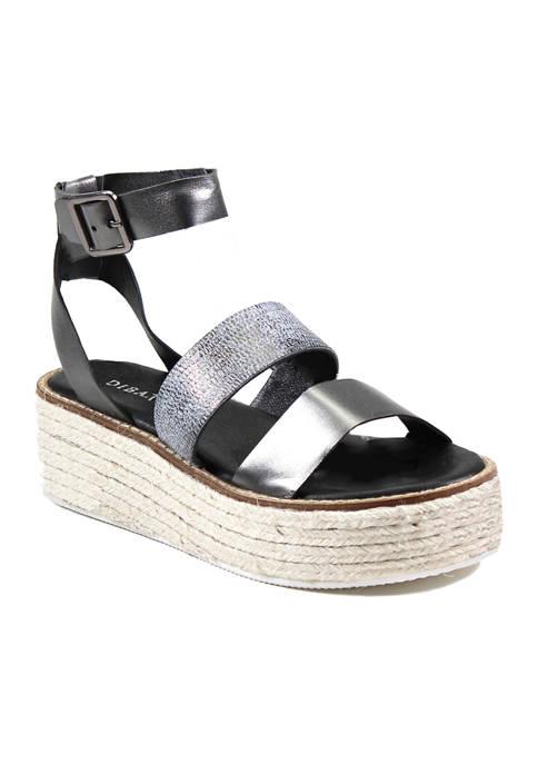 Diba True® Drop Sees Glitz Flatform Sandals