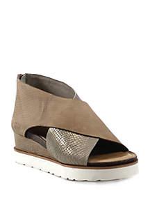 Diba True® Cross Band White Bottom Sandal