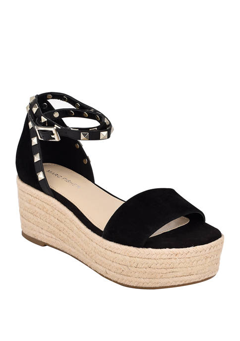 Marc Fisher Jazlyn Stud Flatform Sandals