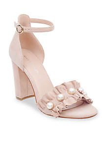 King Pearl Ruffle Sandals