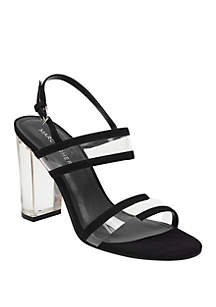 Marc Fisher Outcry Lucite Heeled Sandals