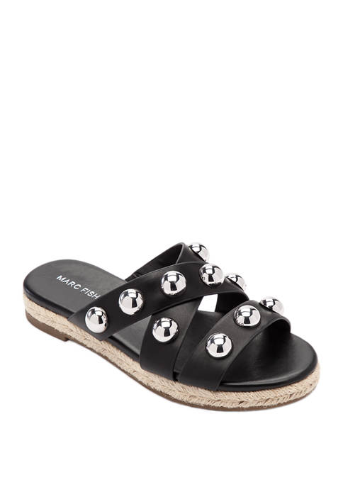 Marc Fisher Prisca Ball Stud Slide Sandals