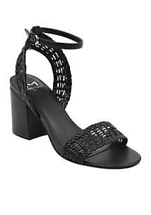 Woven Block Heels