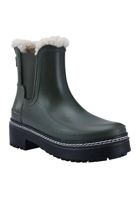 Marc Fisher LTD Fargo Fur Lined Rain Boots