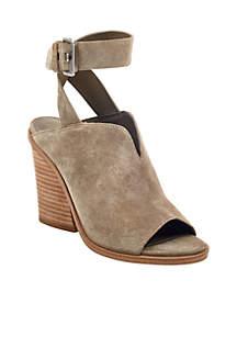 Marc Fisher LTD Vinita Stack Heel Buckled Sandals