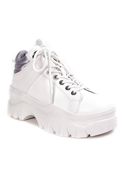 Fay Natural Platform Sneakers