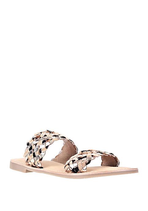 Jane Metallic Sandals