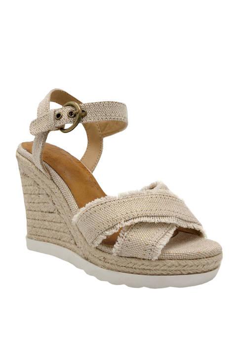 ABS Forward Wedge Heel Sandals