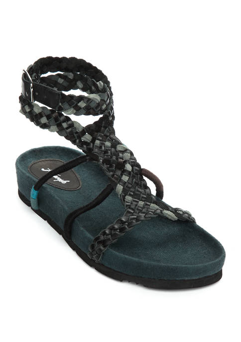 Free People Denali Woven Footbed Sandals