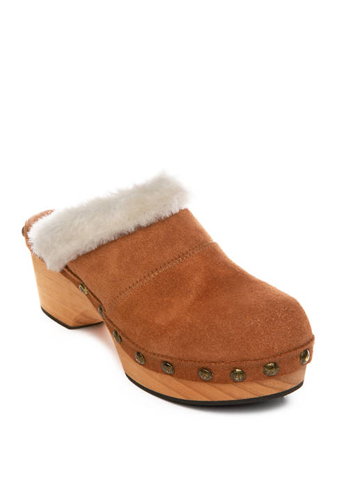 Free People Chalet Shearling Clogs
