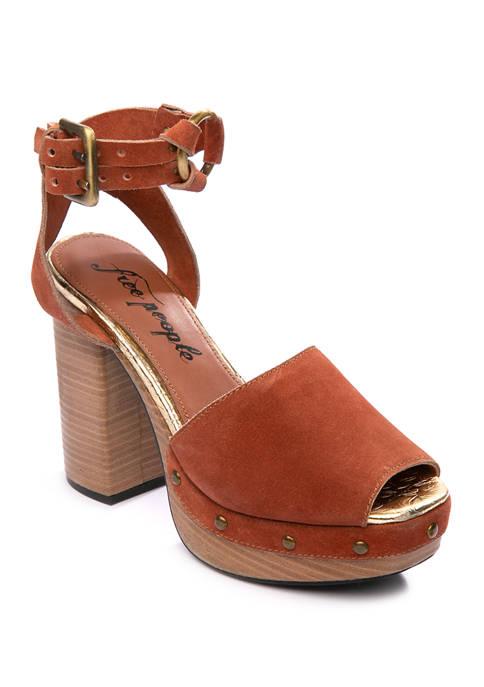 Free People Justine Wood Platform Sandals