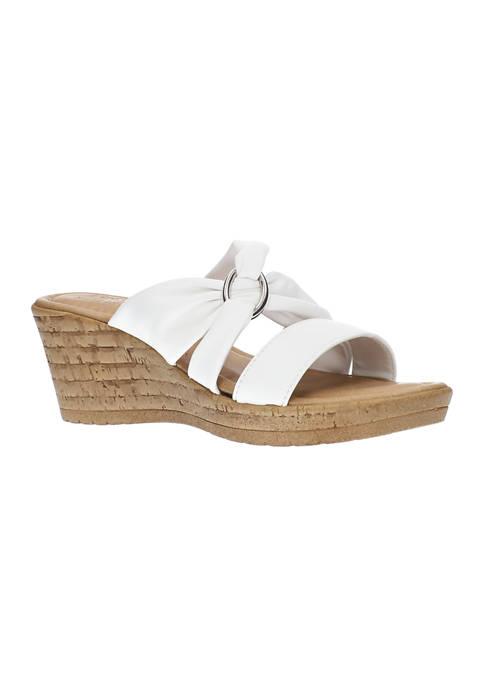 Guiliana Tuscany Italian Wedge Sandals