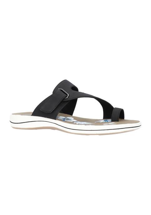 Easy Street Aiko Adjustable Toe Ring Slide Sandals