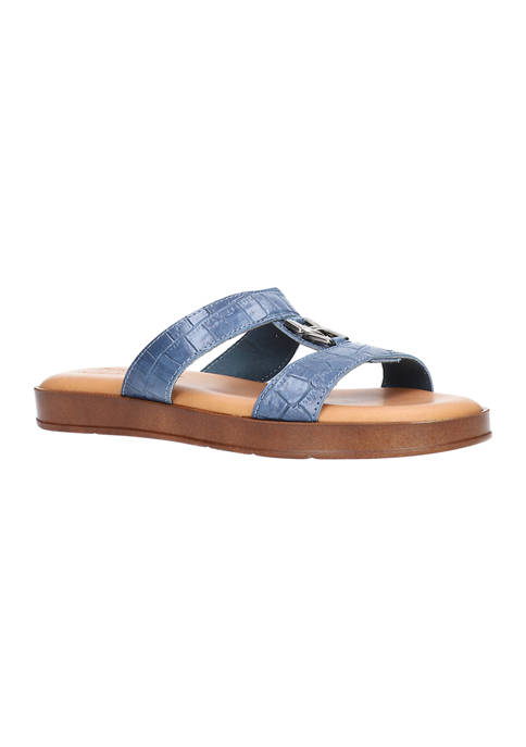 Zelmira Tuscany Italian Slide Sandals