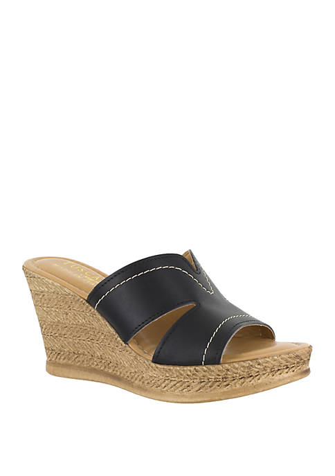 Marsala Wedge Sandal