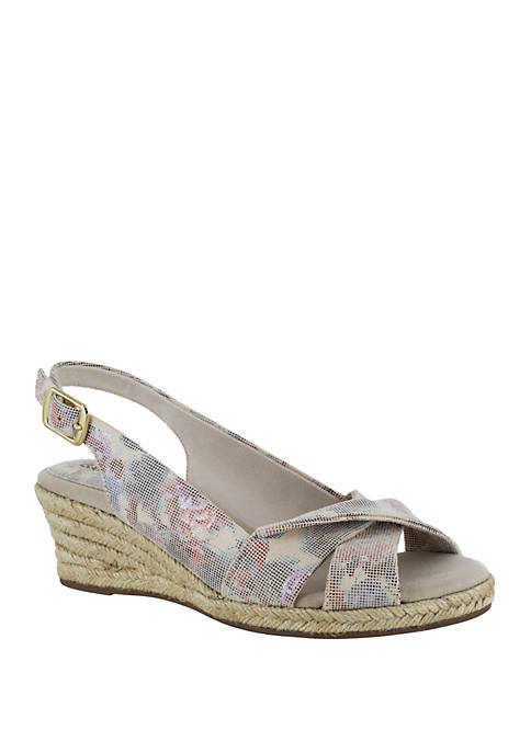 Easy Street Maureen Espadrille Slingback Wedge