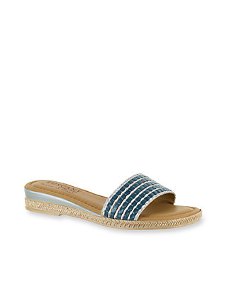 Easy Street Womens Vanna Open Toe Casual Slide Sandals