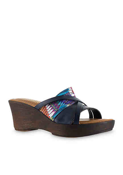 TUSCANY by easy street® Lucette Wedge Sandal ...