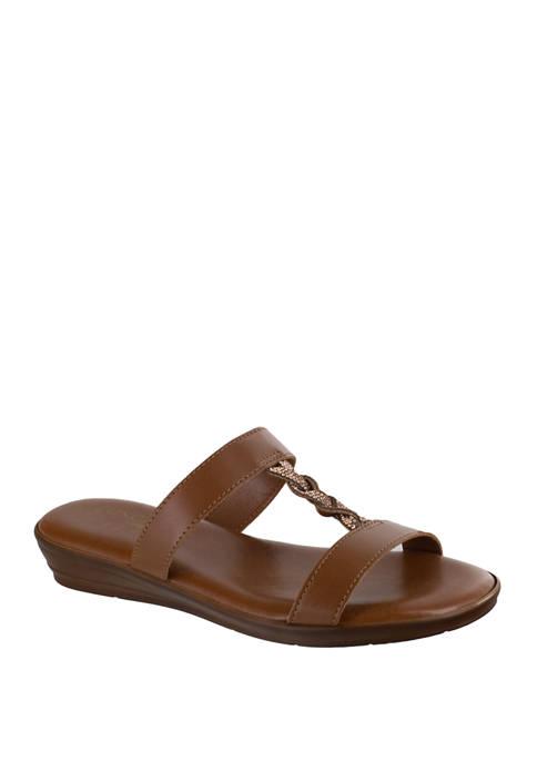 Anna Italian Braided Slide Sandals