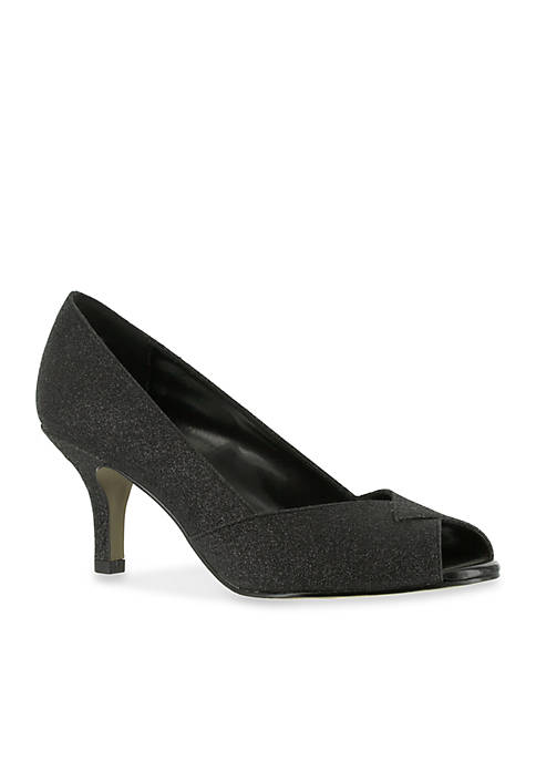 Easy Street Ravish Peep Toe Evening Shoe