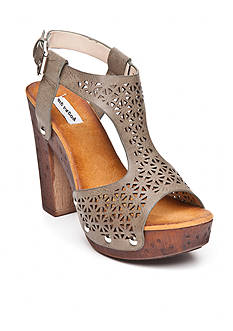 not rated Harper Laser Cut Wood High Heel