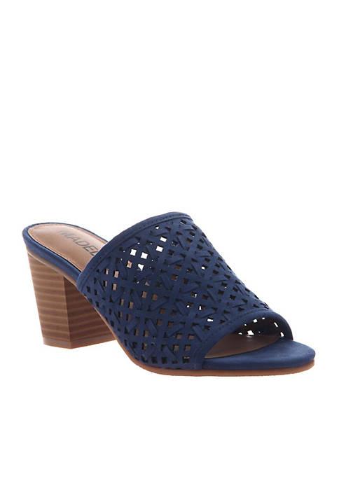 MADELINE GIRL Bestie Lattice Design Slide Sandals