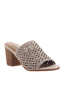 Bestie Lattice Design Slide Sandals