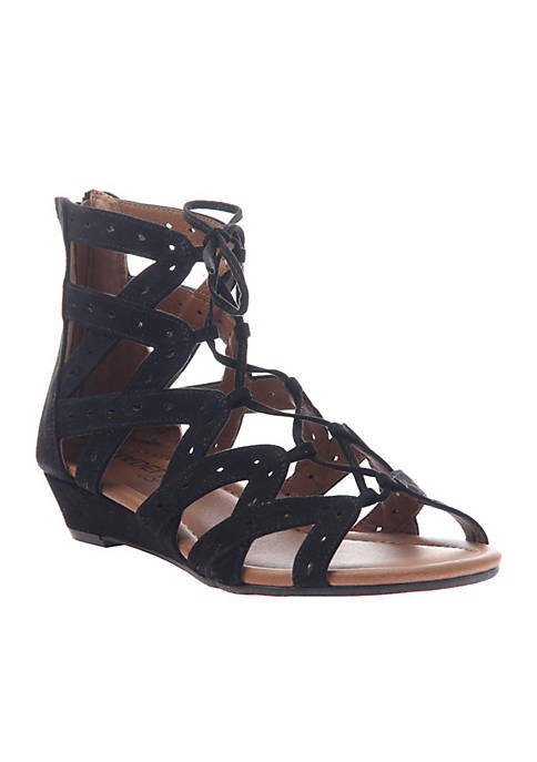 MADELINE GIRL Finesse Ghillie Tie Gladiator Sandals
