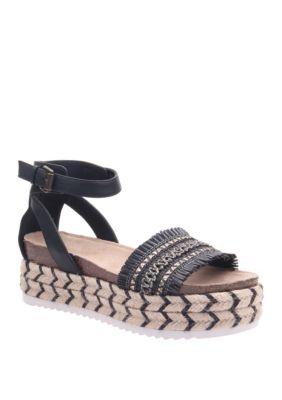Madeline Girl Womens Sphinx Espadrile Platform Sandal