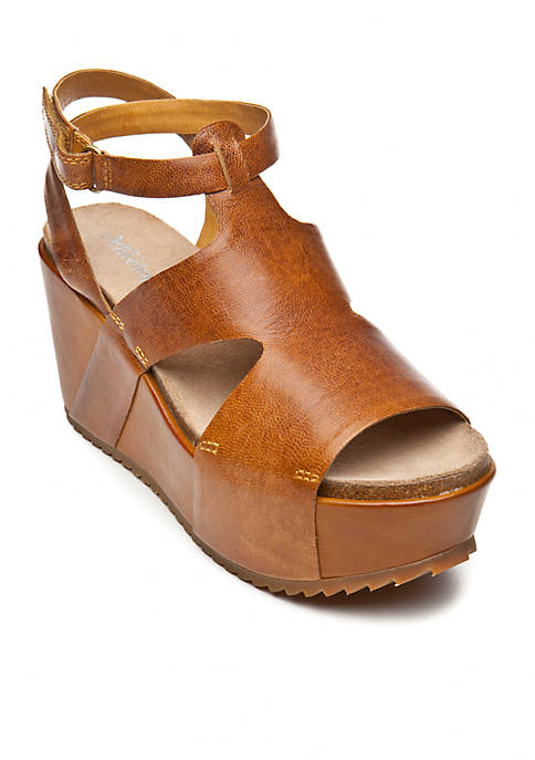 2967647ae16 Antelope Caged Covered Wedge Sandal