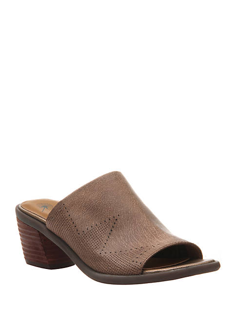 Southwest Heeled Mule Sandals