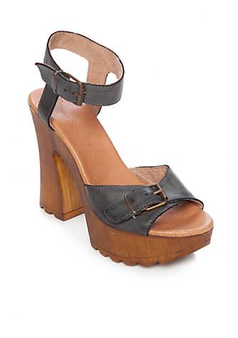Musse & Cloud Noemi Wooden Lug Platform Sandal uk35Pp7