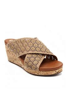 Paddington Dress Genuine Cork Wedge Sandal