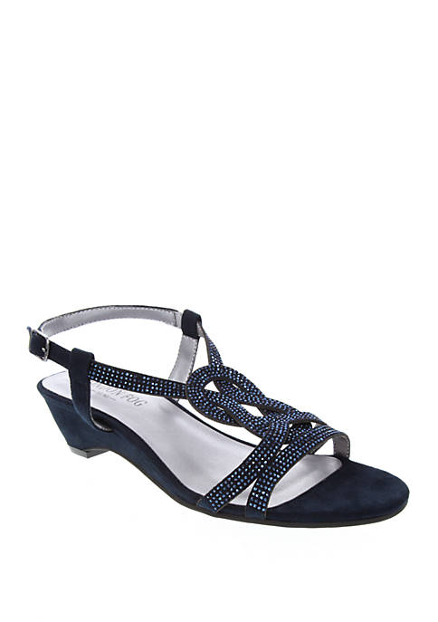 London Fog® Macey Demi Wedge Dress Sandals