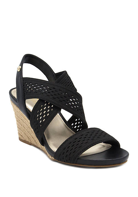 London Fog® Pickwick Espadrille Wedge Sandals