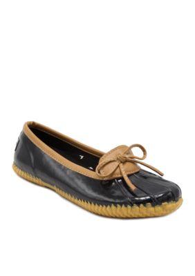 London Fog Womens Webster Casual Slip-On Rain Shoe