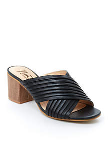 Ray Crossband Pleated Slide Sandals