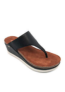 Paige Thong Wedge Sport Sandal - Wide Width Available