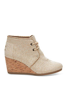 TOMS® Desert Lace Up Wedge Booties