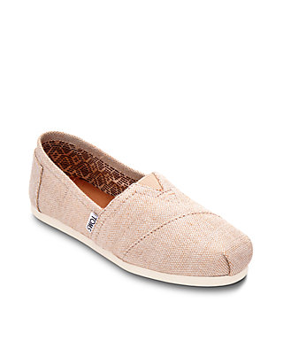 5418fcef4 TOMS® Natural Metallic Burlap Alpargata Shoes | belk